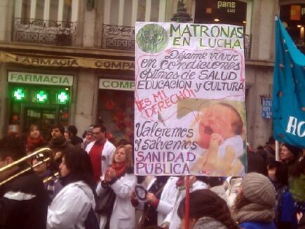 7/1/2013 Madrid Marea Blanca  La sanidad y la salud en manos de Capio y Rato es terrorismo